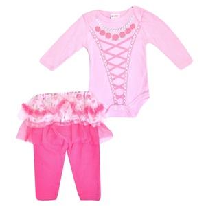 Σετ Βρεφικό Μπλούζα Κολάν Ροζ Φούξια Τούλι b586d035e57