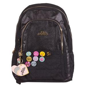 9469aa9691 Σχολική Τσάντα Μαύρη Κονκάρδες   Καθρέφτης Miss Lemonade