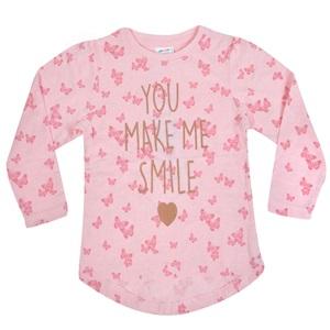 22977274ff53 Μπλούζα Μακρυμάνικη Παιδική Ροζ Μελανζέ Glitter Πεταλούδες