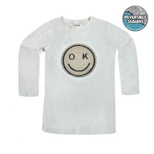 Μπλούζα Μακρυμάνικη Παιδική Off White Μαγικές Παγιέτες e8ad38a0870