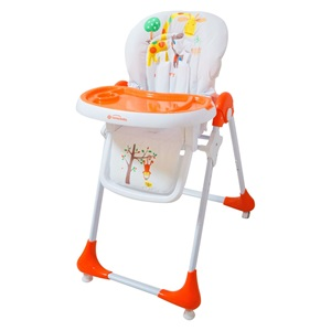 b339c045301 Καρέκλα - Κάθισμα Φαγητού Premium Λευκό Πορτοκαλί με Ζώα (3 Θέσεις)