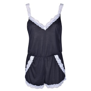 Πυτζάμες Γυναικείες Σαλοπέτα Μαύρη Λευκή Δαντέλα - One Size 21db48b20a5