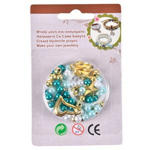 Φτιάξε Κοσμήματα Με Χάντρες Πράσινες Λευκές - 140 τμχ. 7bf14c51c28