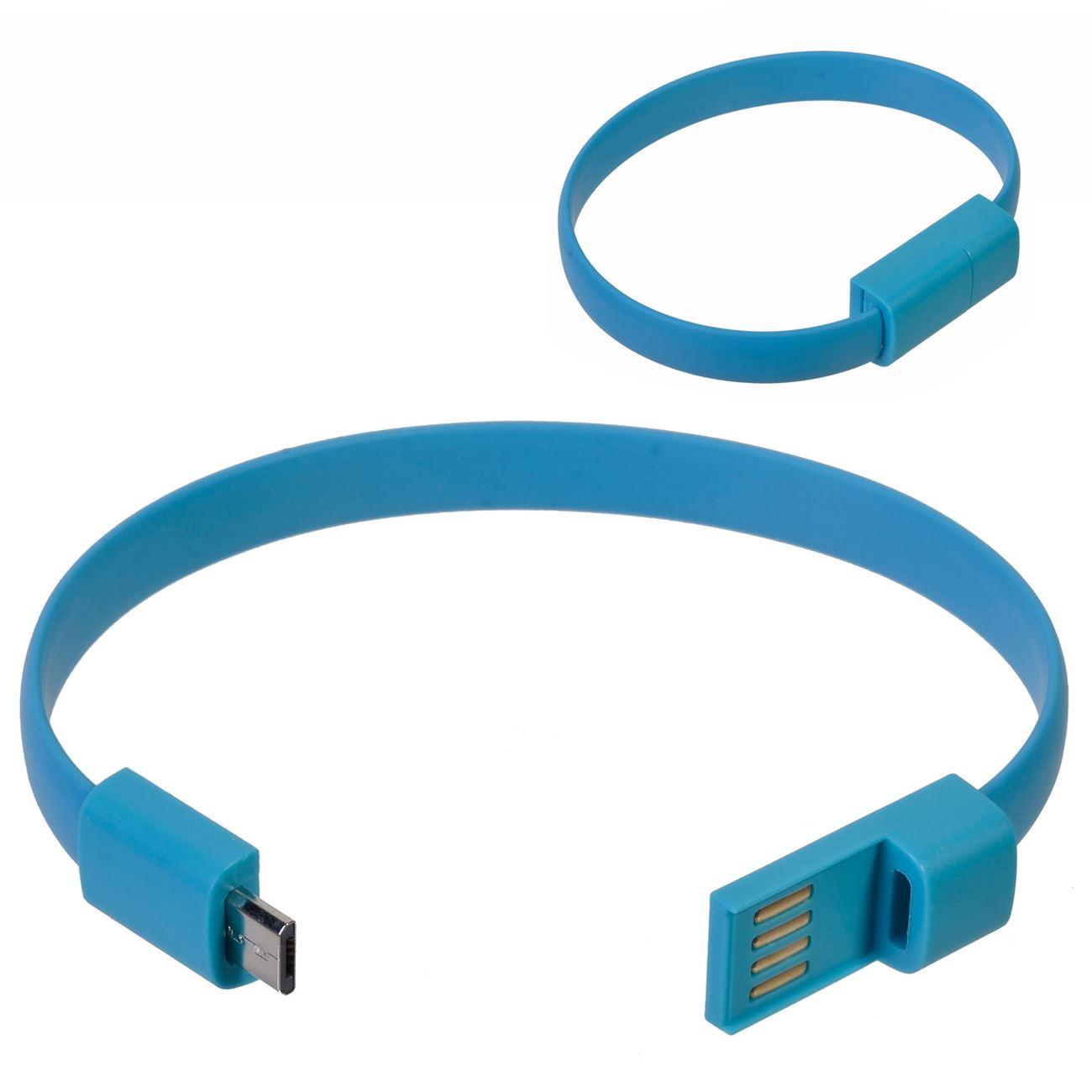 d25ab32696 Βραχιόλι - Καλώδιο Micro USB Σιελ   Καλώδια Φόρτισης Κινητών-Tablet ...