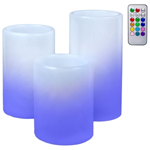 LED Lumanari albe cu controler