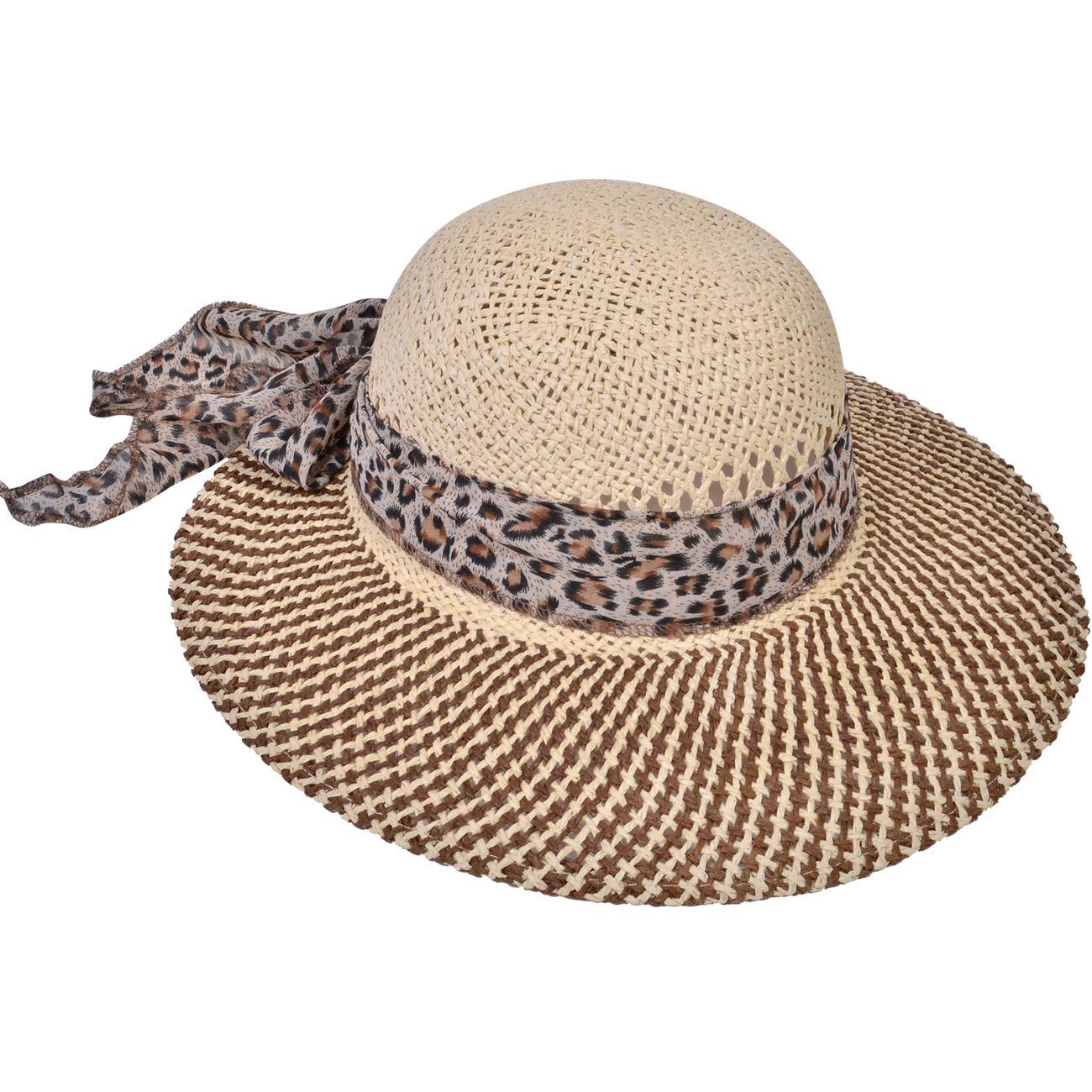4d0debd5dc Καπέλο Γυναικείο Animal Print Κορδέλα   Καπέλα Ψάθινα Γυναικεία