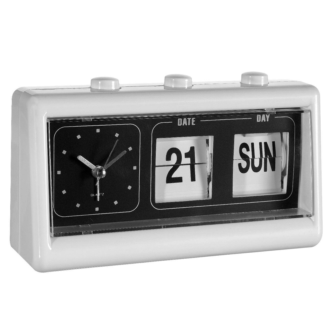 Ξυπνητήρι - Ημερολόγιο Επιτραπέζιο Λευκό 19x10x5   Επιτραπέζια ... 5aa9a61d585