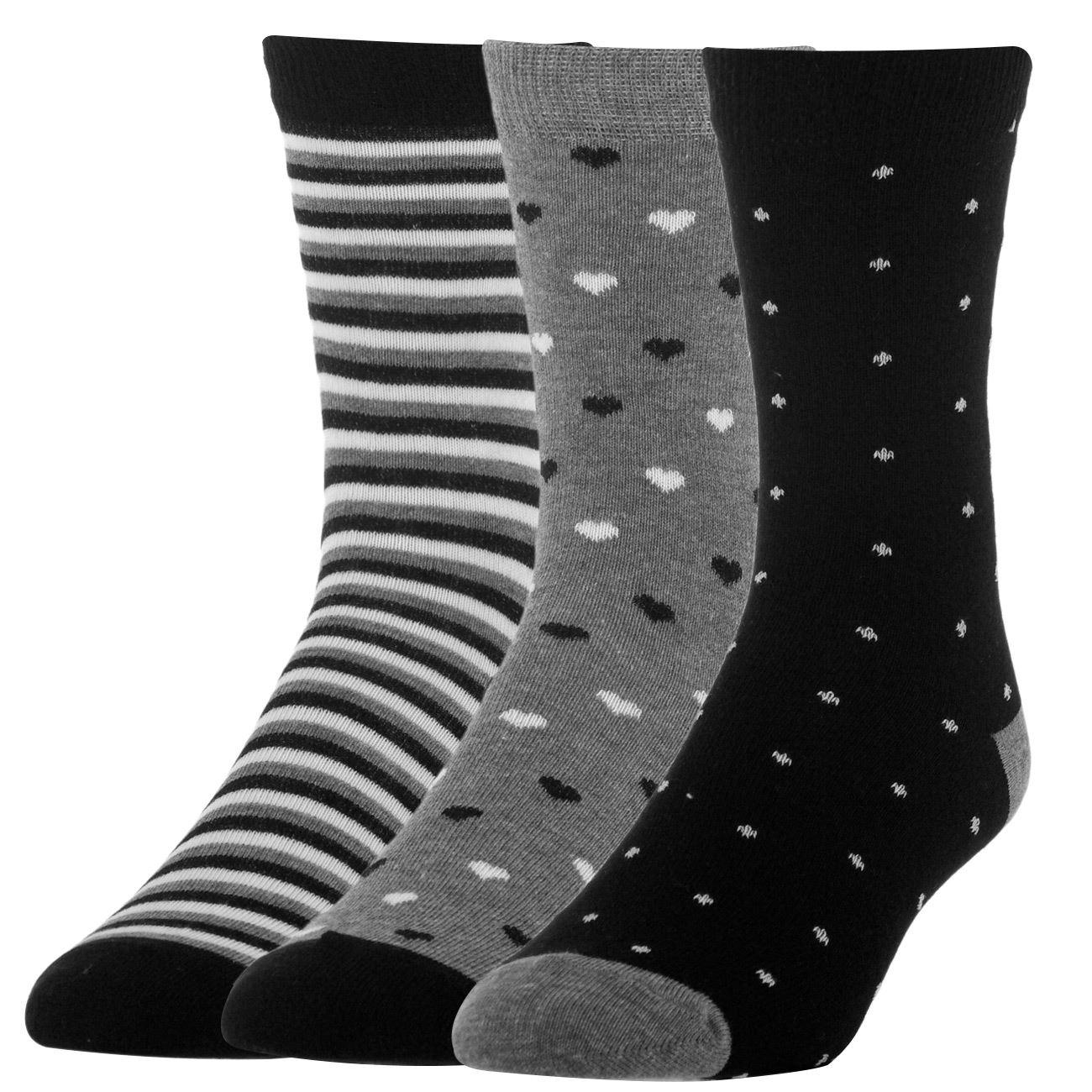 Κάλτσες Γυναικείες - 3 ζευγ.   Κάλτσες Γυναικείες Πακέτο με Σχέδια ... 5d05f6665f5