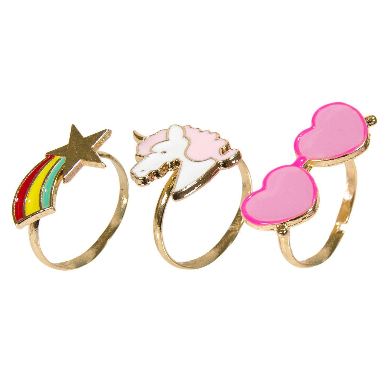 1b10aa1f737 Δαχτυλίδια Παιδικά Γυαλιά Καρδιές Αστέρι Μονόκερος - 3 τμχ.