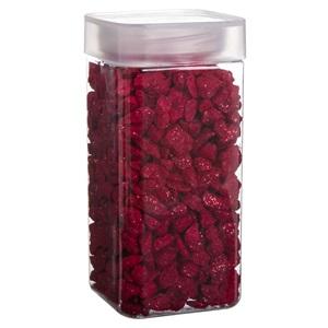 Decorative stoner roșu lucioasă 0,6 cm - 700 gr.