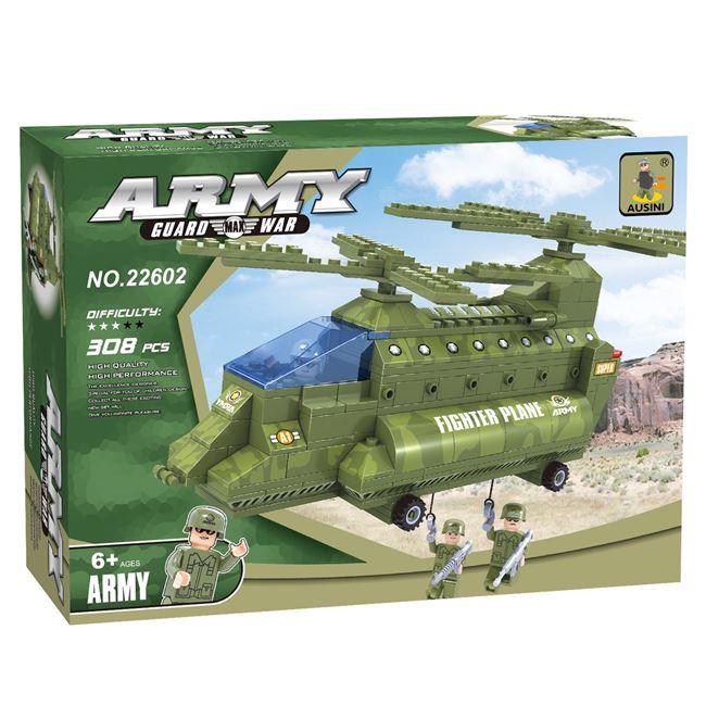 Τουβλάκια Στρατιωτικό Ελικόπτερο (308 κομμάτια)   Τουβλάκια ... 3debeee6935