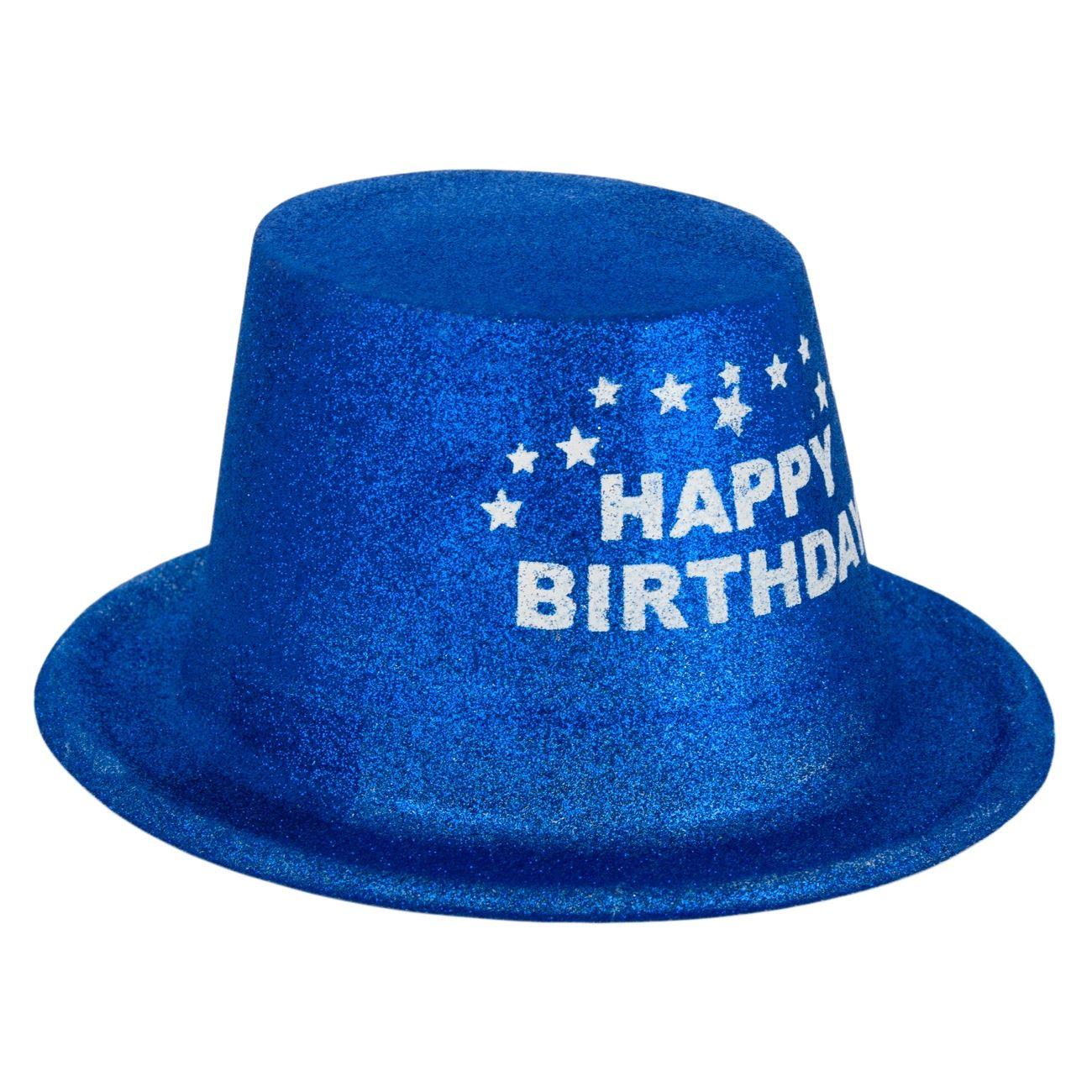 71c341226b Καπέλο Γενεθλίων PVC Μπλε Glitter   Party Καπέλα Μεμονωμ Πλαστικά ...