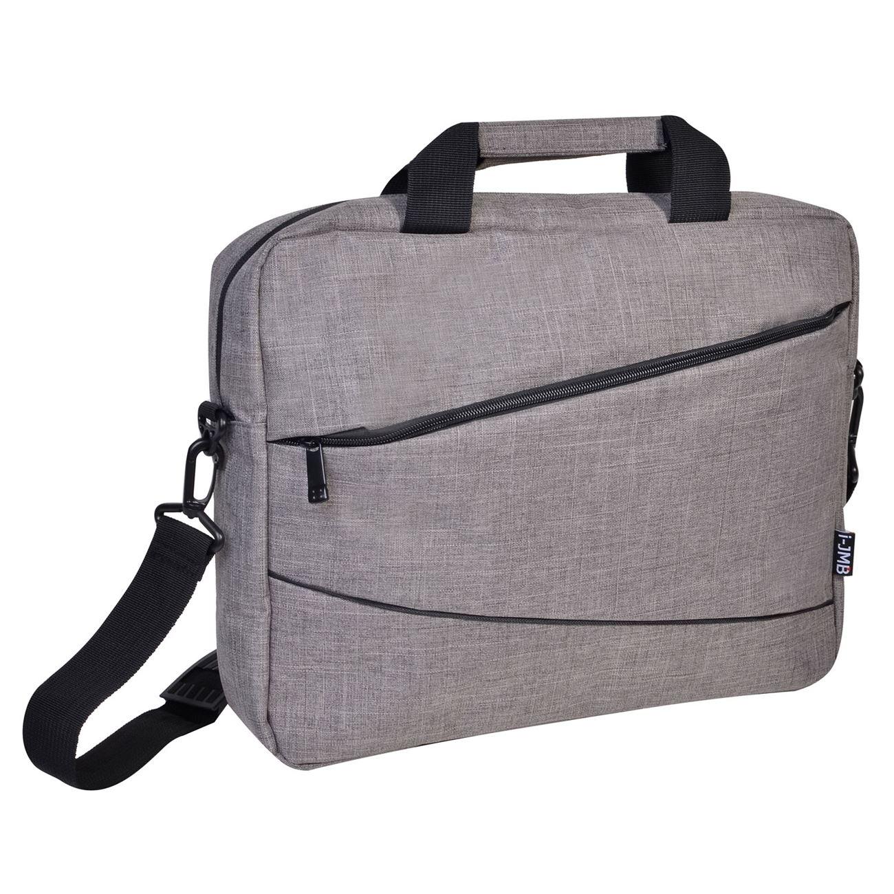 6da561c7c5 Τσάντα Λαπτοπ Γκρι I-JMB   Τσάντες Laptop Χεριού-Ώμου