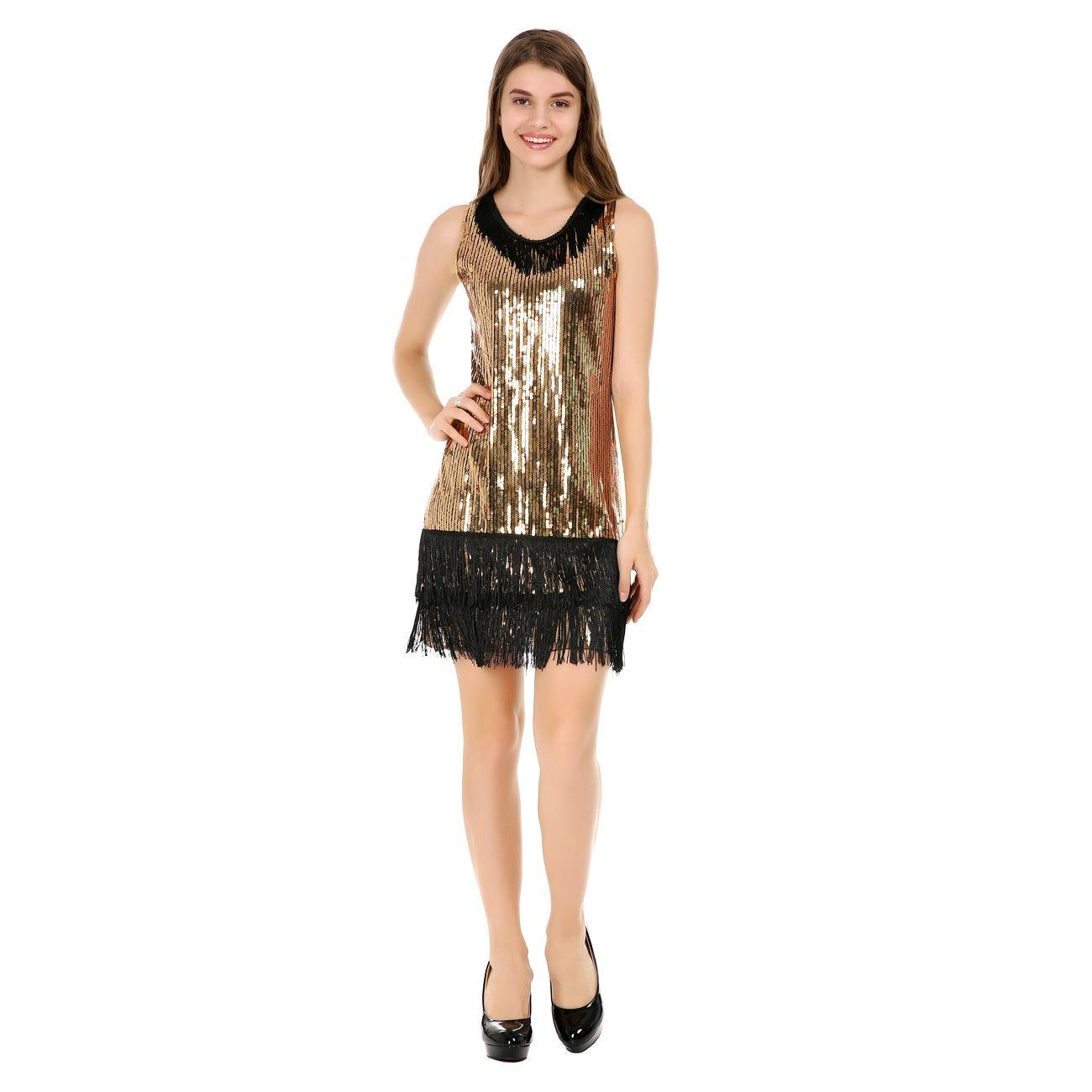 1f1900d51a5 Αποκριάτικο Φόρεμα Charleston Χρυσό - One Size