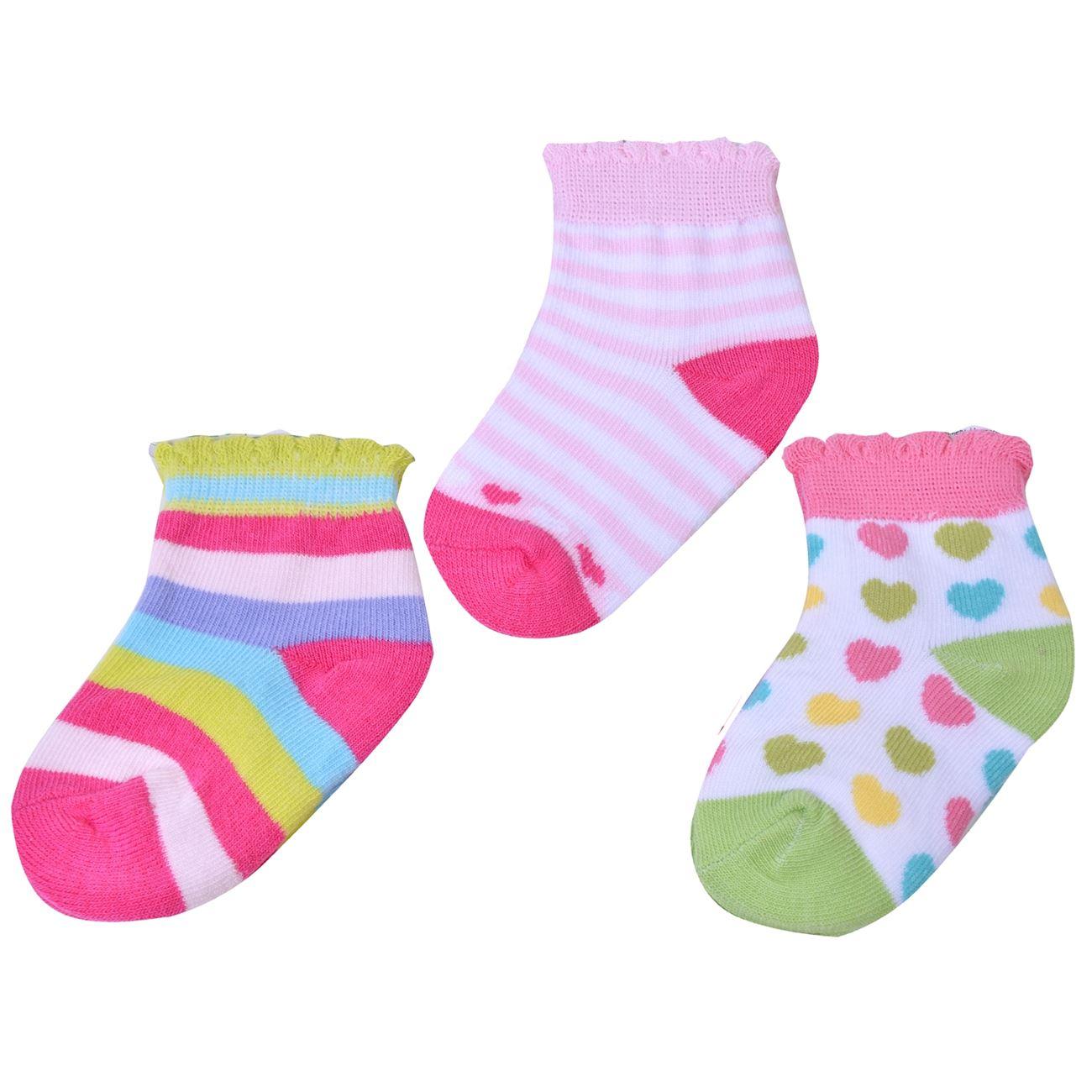 Κάλτσες Βρεφικές Πολύχρωμες - 3 ζευγ.   Κάλτσες Βρεφικές Κορίτσι 00 ... dbe8f5889b7