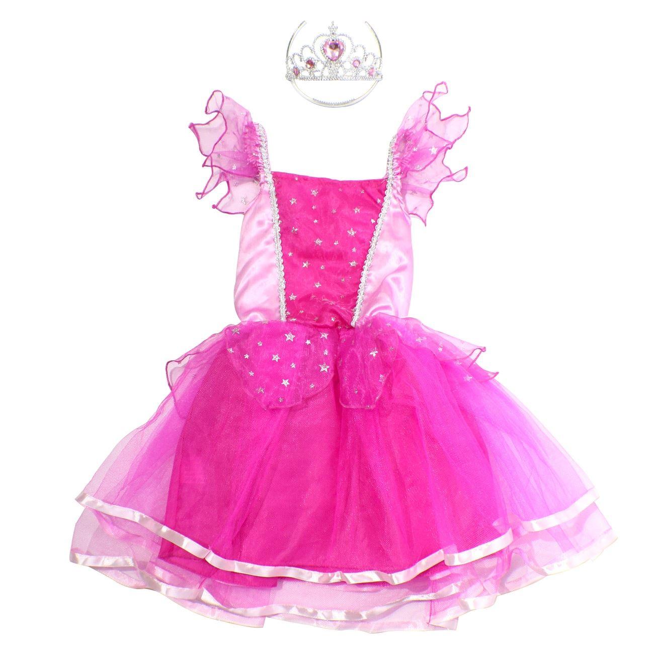 Αποκριάτικη Στολή Πριγκίπισσα Κοντό Ροζ Φόρεμα 85d3ff4751b