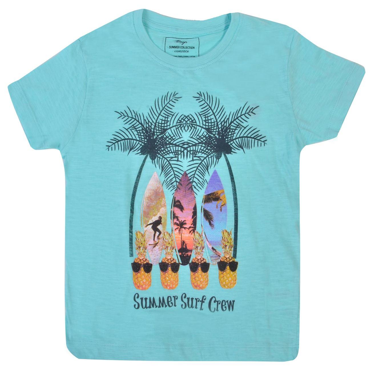 fcfc4aef773d Μπλουζάκι Κοντομάνικο Παιδικό Ανανάς Surf   Κοντομάνικες Μπλούζες για  Αγόρια 4-6 Ετών