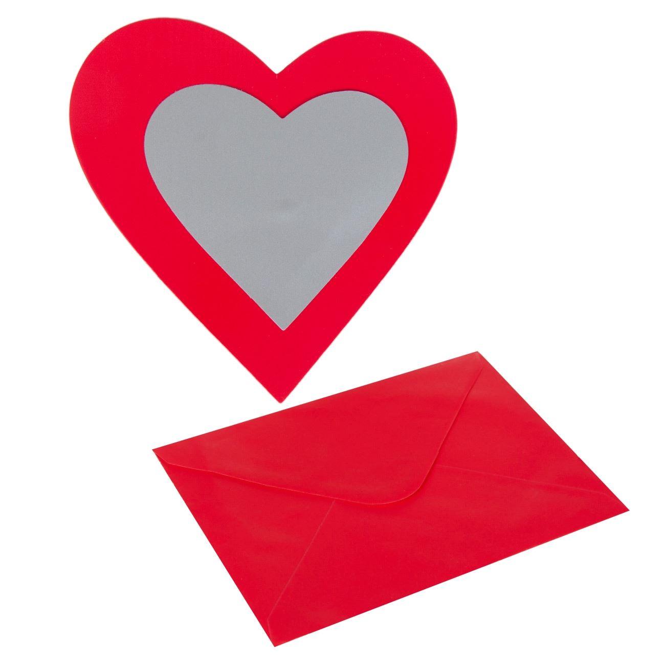 2c983937016c Καρδιά Ξυστό Μηνυμάτων Φάκελος Κόκκινος 16x12   Ευχετήριες Κάρτες Ξυστό