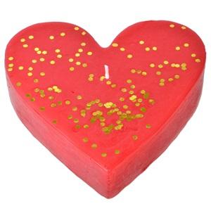 Lumânare din inima roșie de aur 15x15