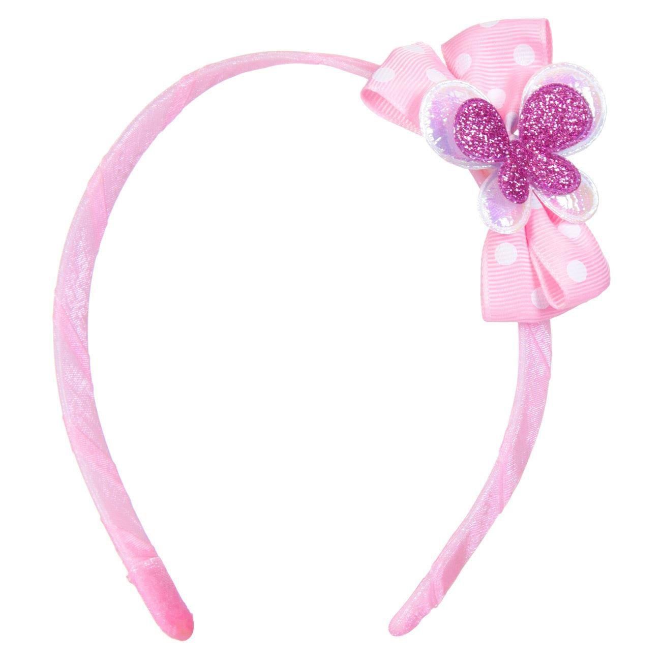 20586b6182f Στέκα Μαλλιών Παιδική Ροζ Φιόγκος Μωβ Πεταλούδα
