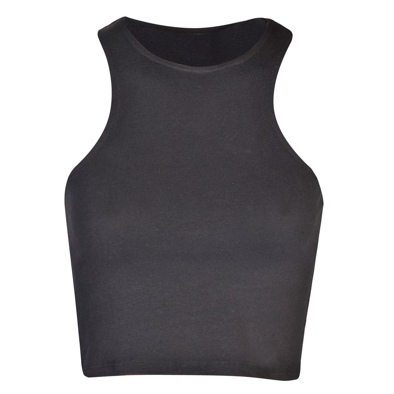 723b6ac9c6f Crop Top Γυναικείο Αμάνικο Μαύρο < Μπλούζες Χωρίς Μανίκι Crop Top ...