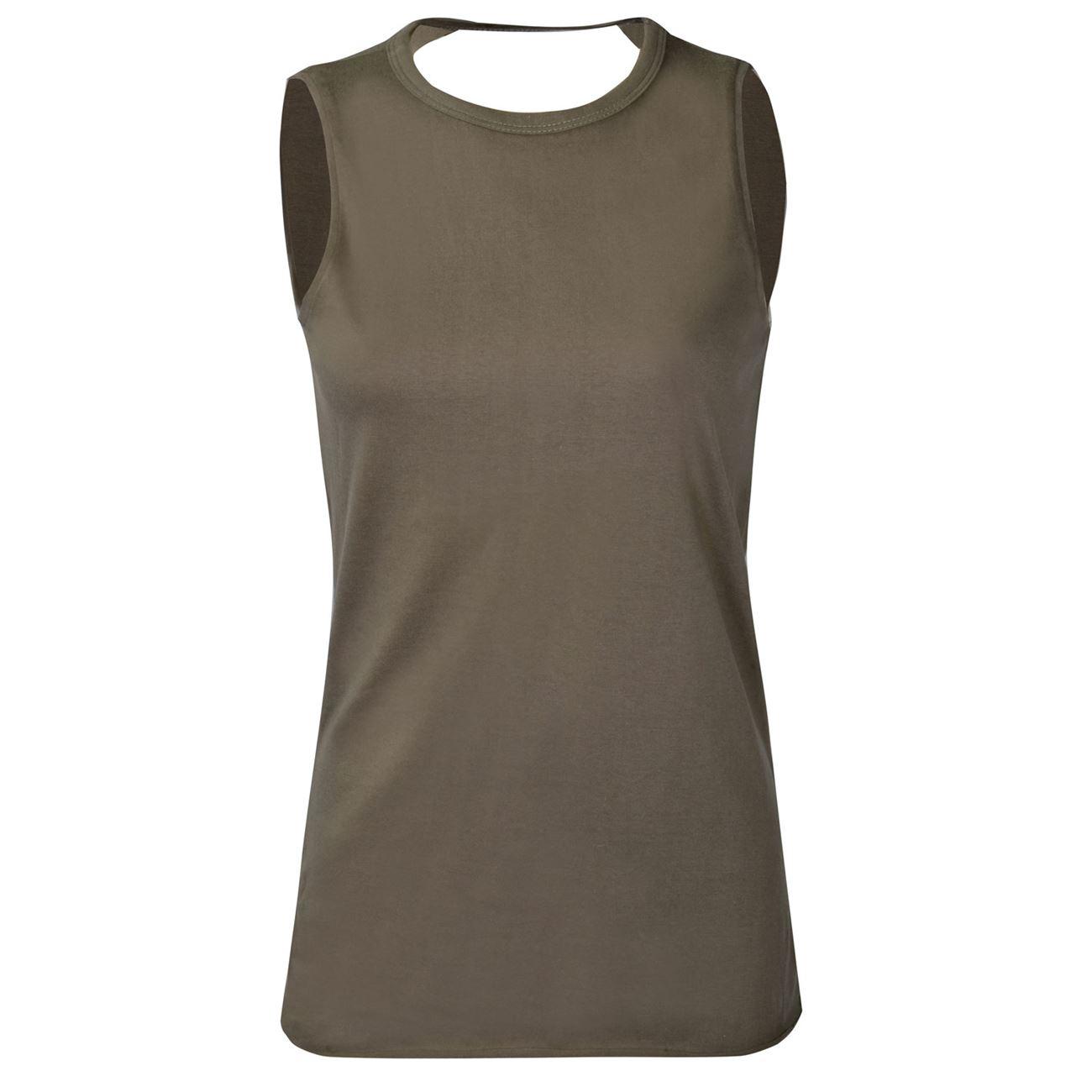 Μπλούζα Γυναικεία Αμάνικη Χακί - One Size   Χωρίς Μανίκι Basic  79ada68df4b