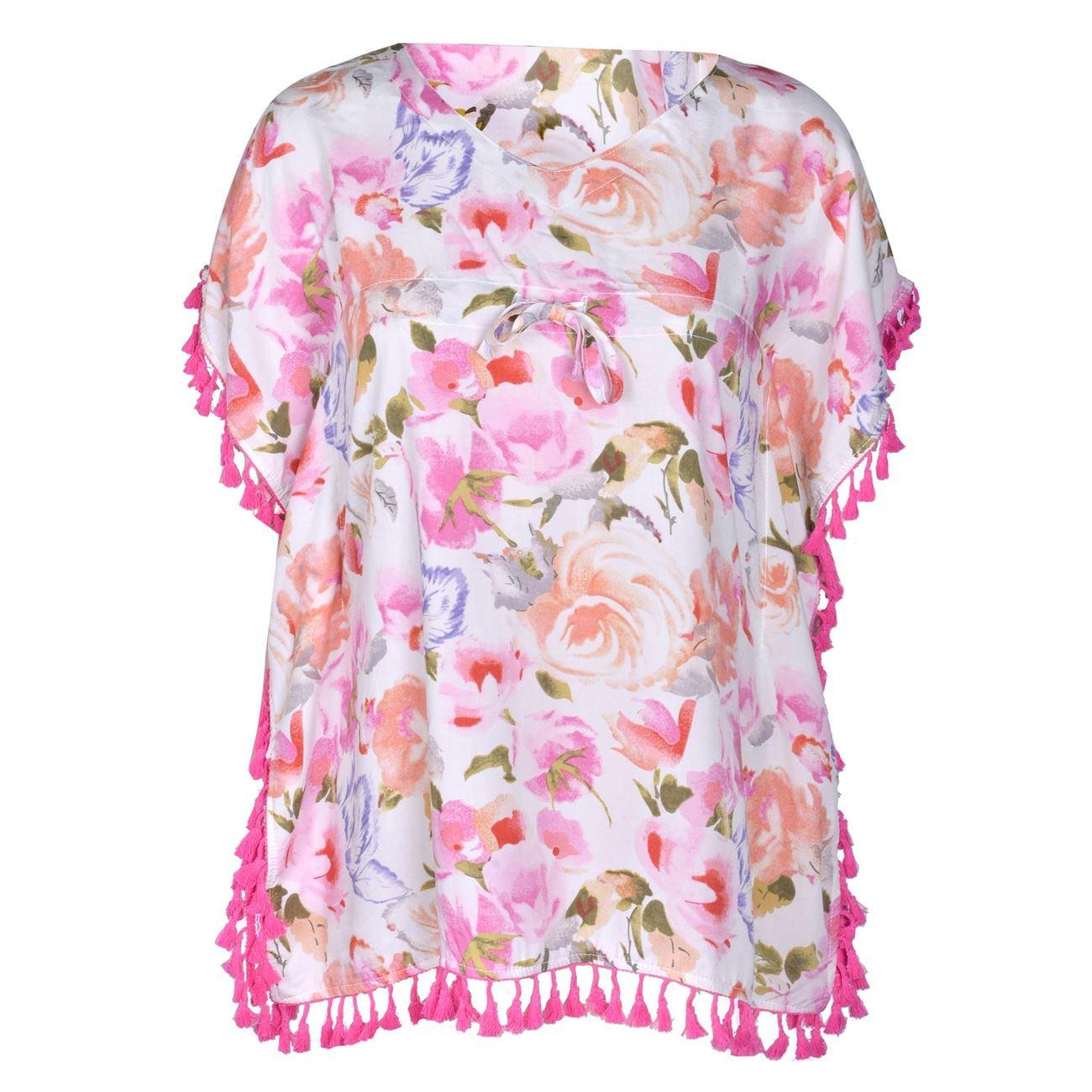 Παιδικά Ρούχα Παραλίας Για Κορίτσια · Καφτάνι Παιδικό Εμπριμέ Φούξια  Φούντες - One Size 26e3bbfc25b