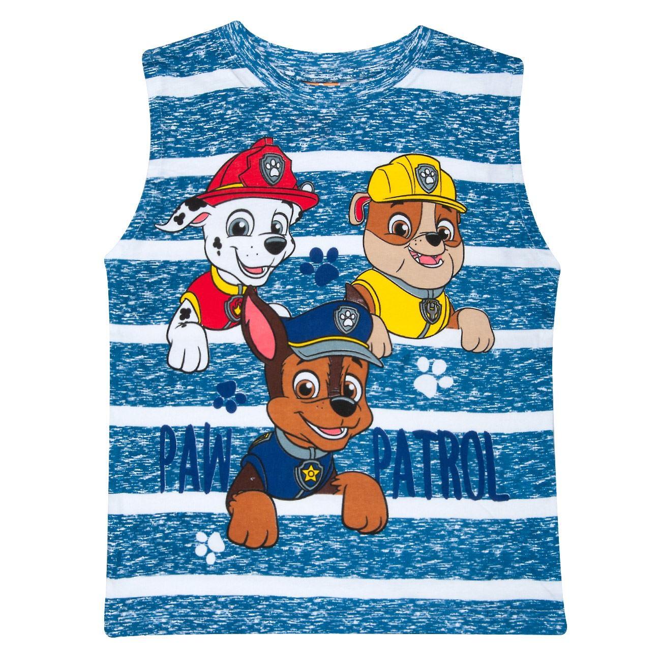 7790186caee Μπλουζάκι Αμάνικο Παιδικό Μπλε Ριγέ PAW PATROL