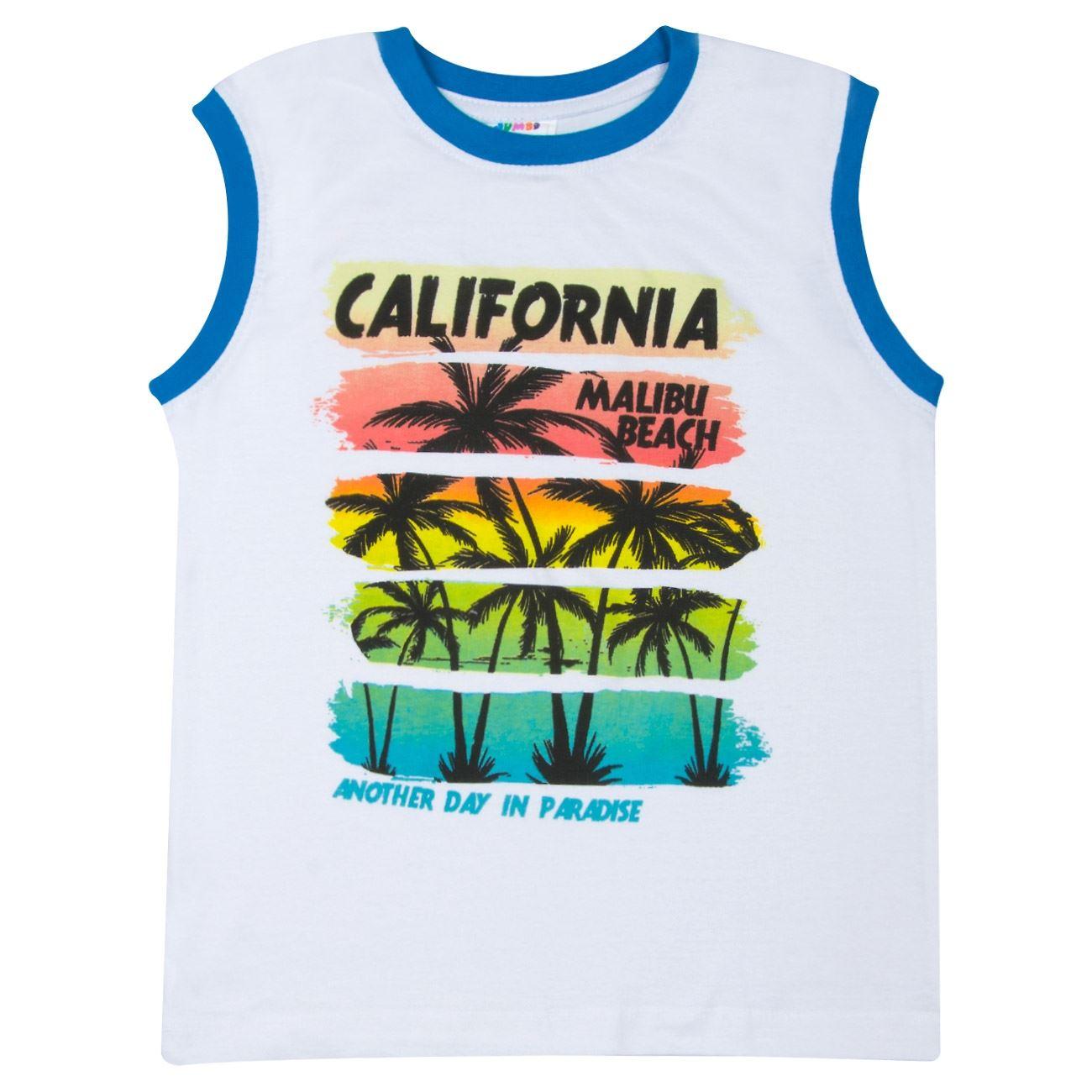 8bb20e87556 Μπλουζάκι Αμάνικο Παιδικό Λευκό Μπλε < Αμάνικες Μπλούζες για Αγόρια 4-6  Ετών | Jumbo