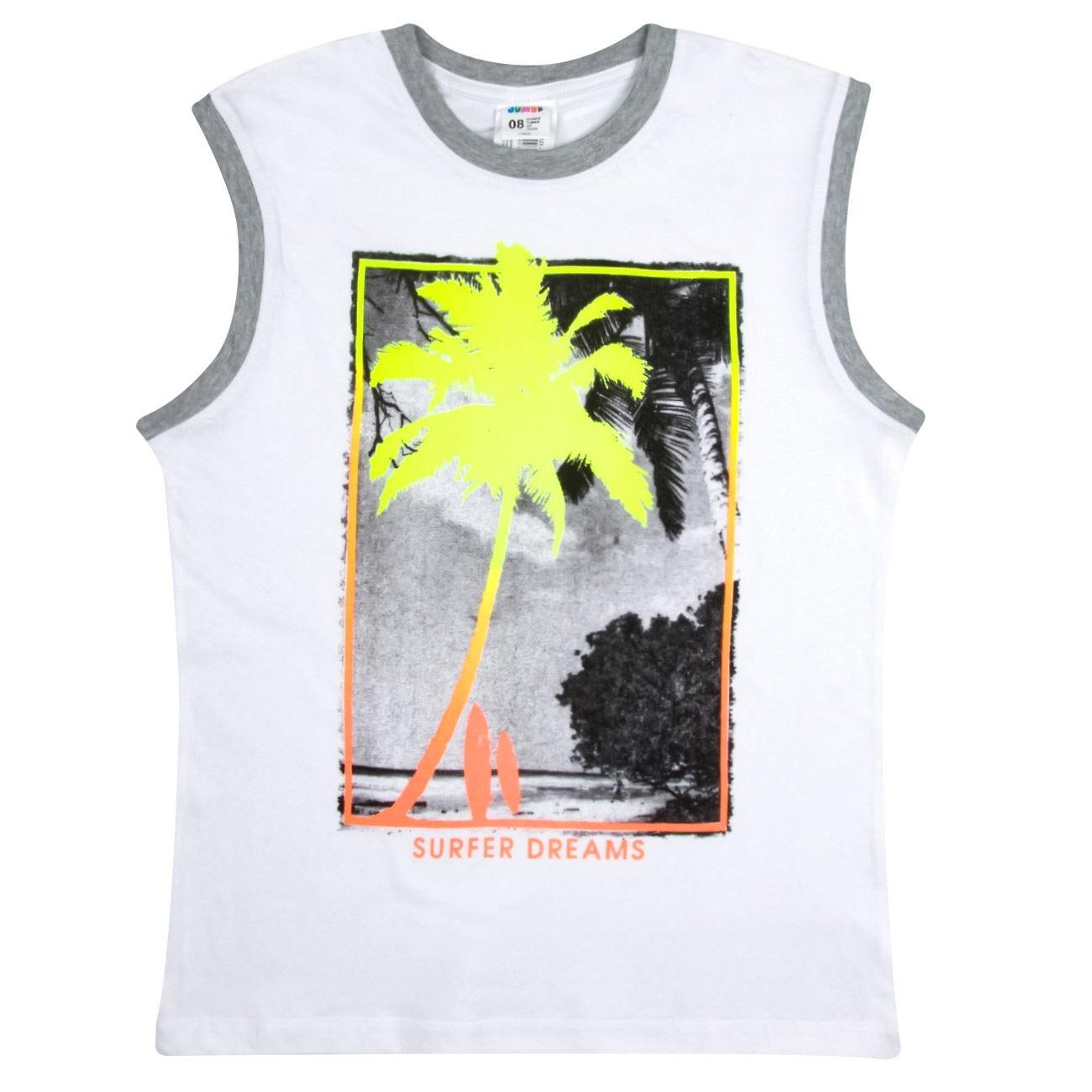 1617ac333e2 Μπλουζάκι Αμάνικο Παιδικό Λευκό Γκρι < Αμάνικες Μπλούζες για Αγόρια ...