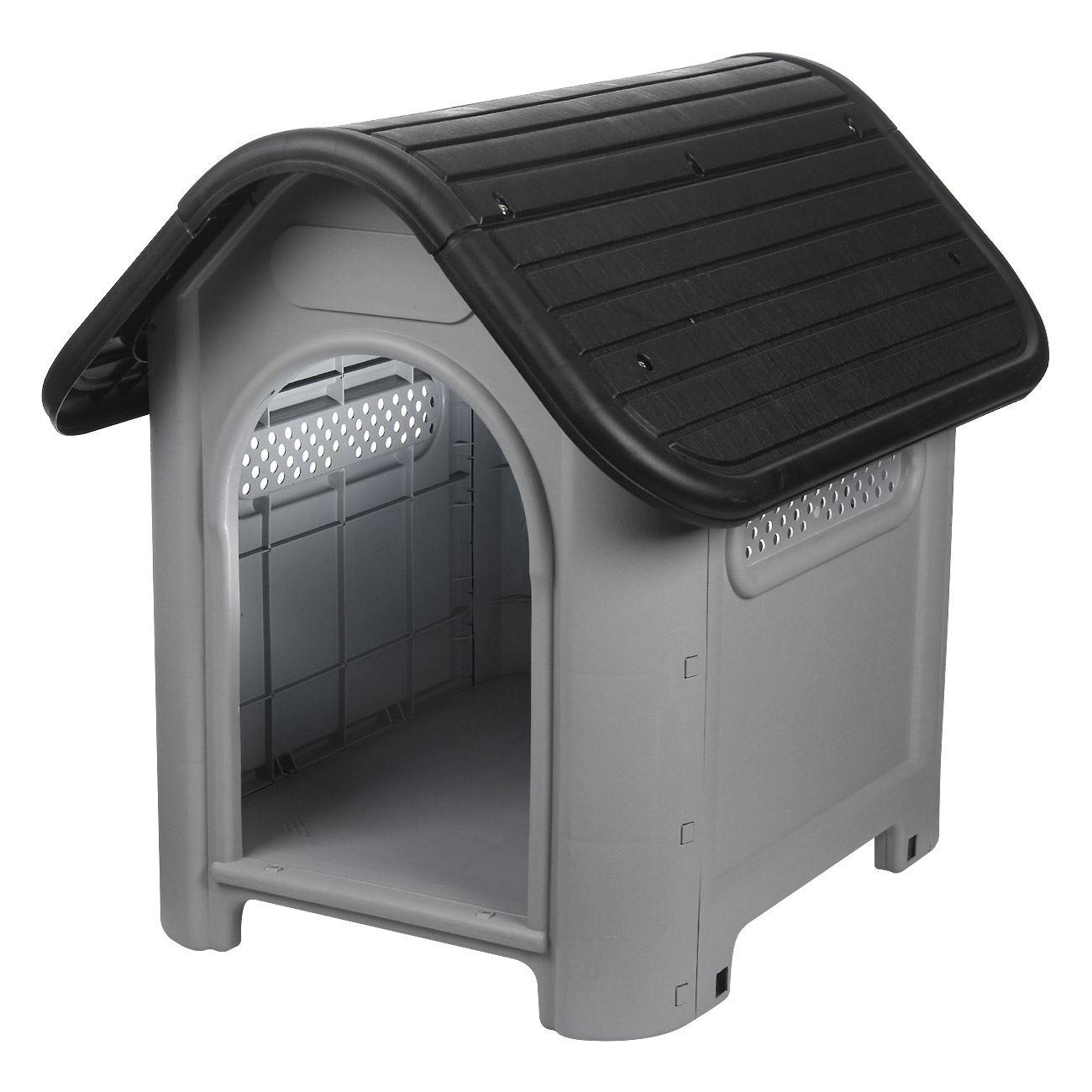 94ab16342644 Σπίτι Σκύλου Γκρι Μαύρο 75x59x66 cm   Σπίτια Σκύλου