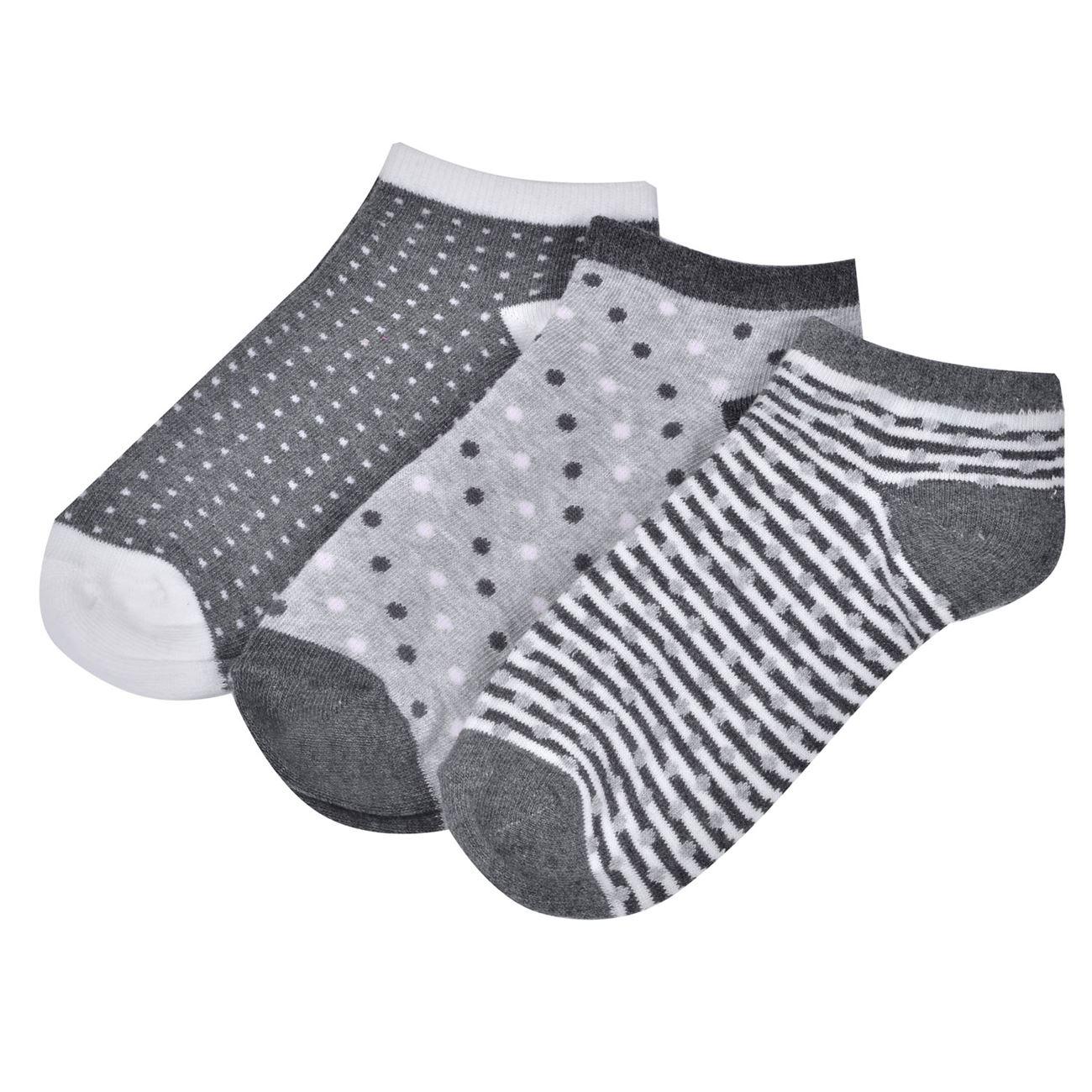 Κάλτσες Παιδικές Σοσόνια Γκρι Πουά Ριγέ - 3 ζευγ.   Κάλτσες Σοσόνια ... 9c3db4a6bb0