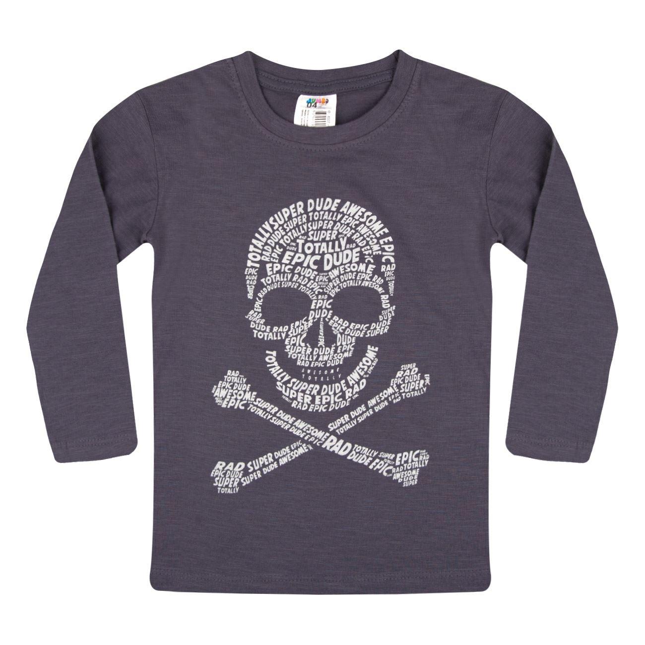 1d0bb4ee0e6b Μπλούζα Μακρυμάνικη Παιδική Μπλε Ραφ Νεκροκεφαλή   Μπλουζάκια Μακό για  Αγόρια