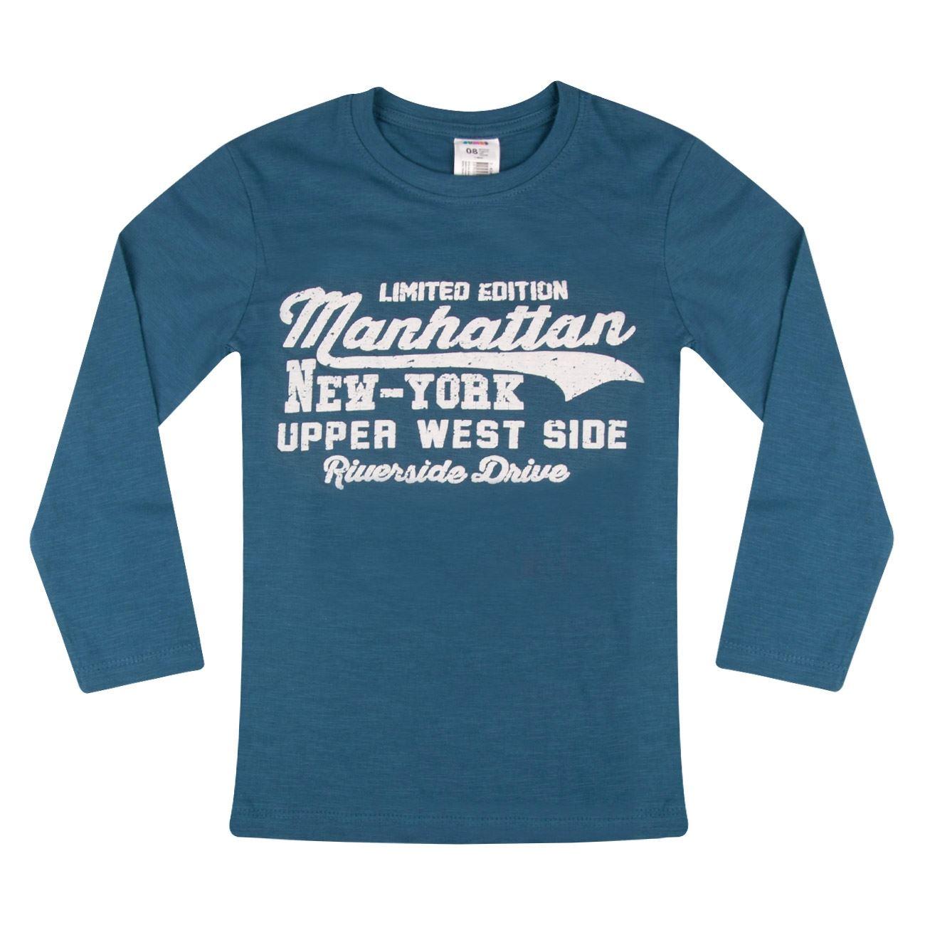 feee629c33c5 Μπλούζα Μακρυμάνικη Παιδική Μπλε Ραφ Τύπωμα   Μπλουζάκια Μακό για ...