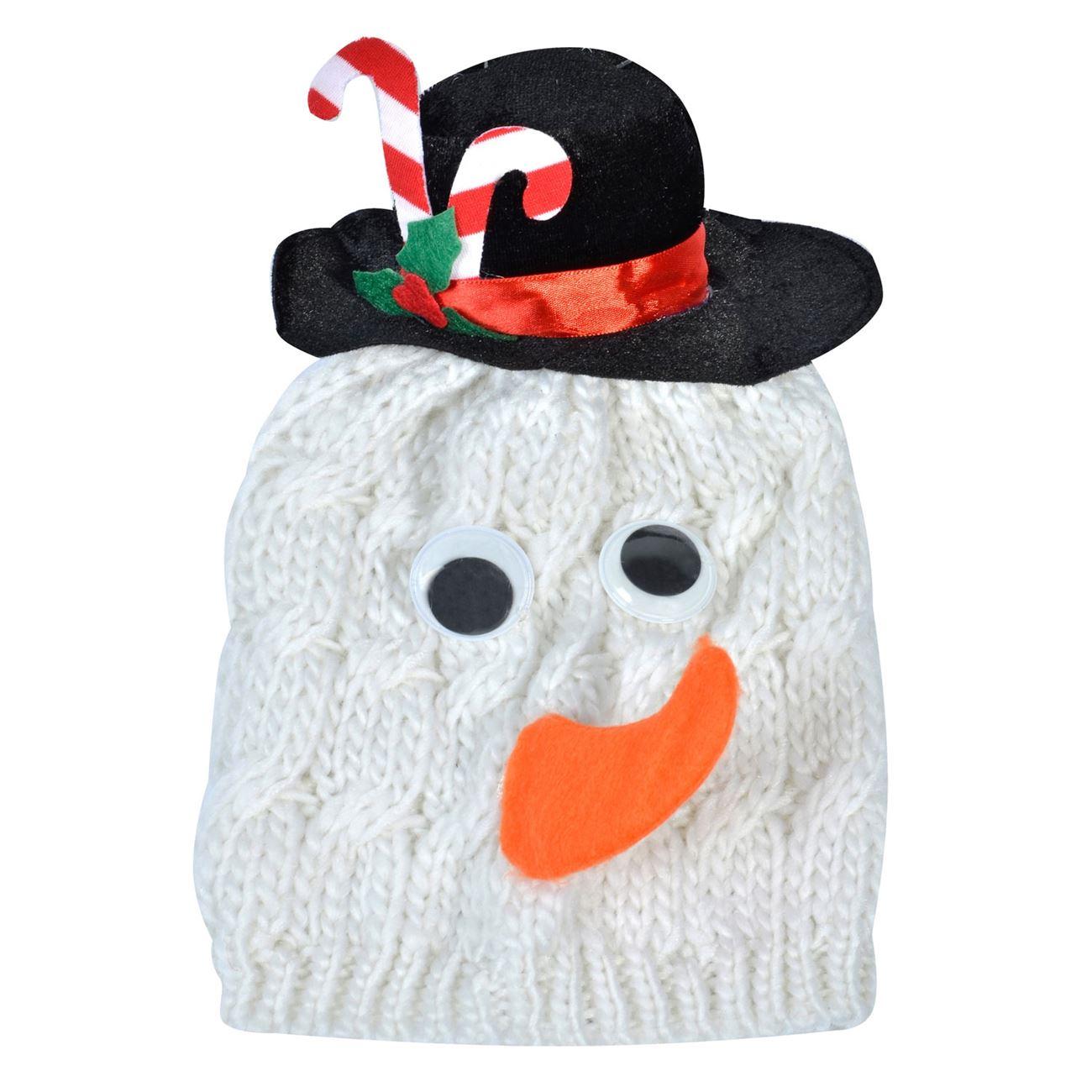 8f127bc5909 Χριστουγεννιάτικο Πλεκτό Σκουφί Χιονάνθρωπος