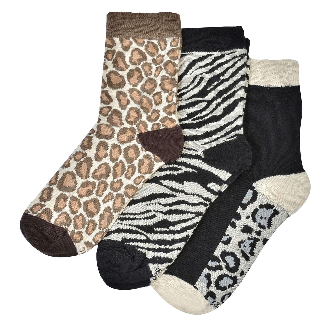 Κάλτσες Γυναικείες Λεοπαρ Τιγρέ - 3 ζευγ.   Κάλτσες Γυναικείες ... e0703a8b471