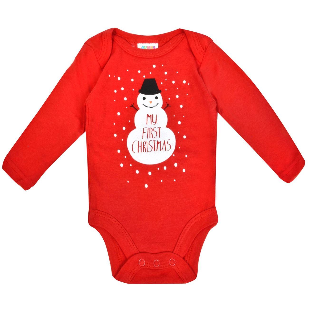 59755248a72 Βρεφικό Χριστουγεννιάτικο Εσώρουχο Φορμάκι Κόκκινο Χιονάνθρωπος < Εσώρουχα- Φορμάκια Bebe Χριστουγεννιάτικα   Jumbo