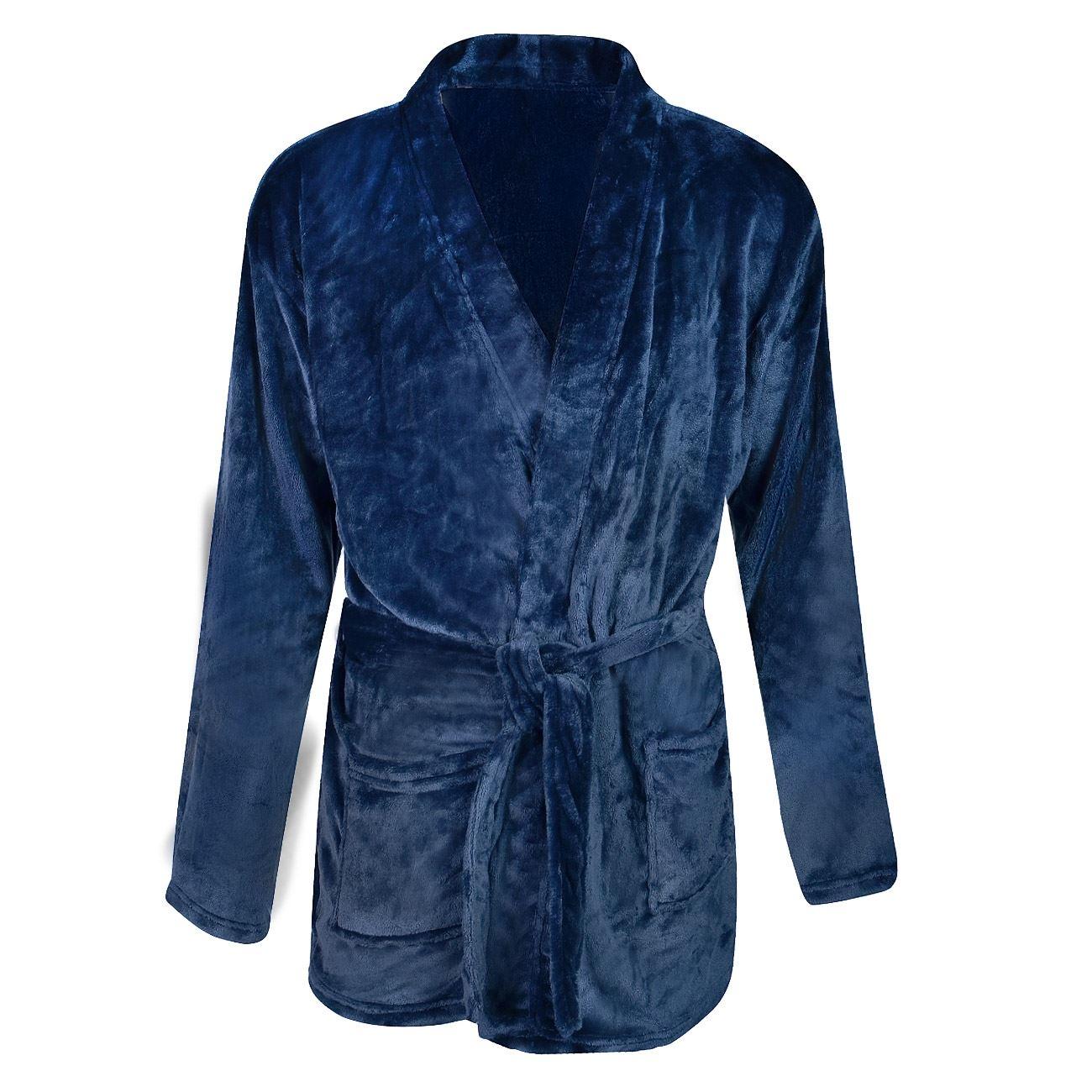 Ρόμπα Ανδρική Fleece Μπλε - One Size   Ρόμπες-Ζακέτες Ανδρικές  bfb823d5b69