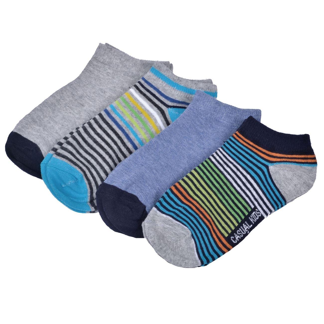 Κάλτσες Παιδικές Σοσόνια Γκρι Μπλε Ριγέ - 4 ζευγ.   Κάλτσες Σοσόνια ... 3dcb18cd78e
