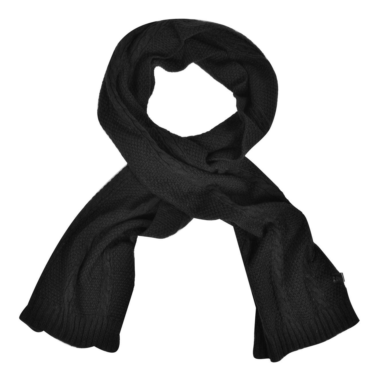 Κασκόλ Ανδρικό Μαύρο Πλεκτό PU Patch - One Size   Kασκώλ-Φουλάρια ... ea89c2cf563