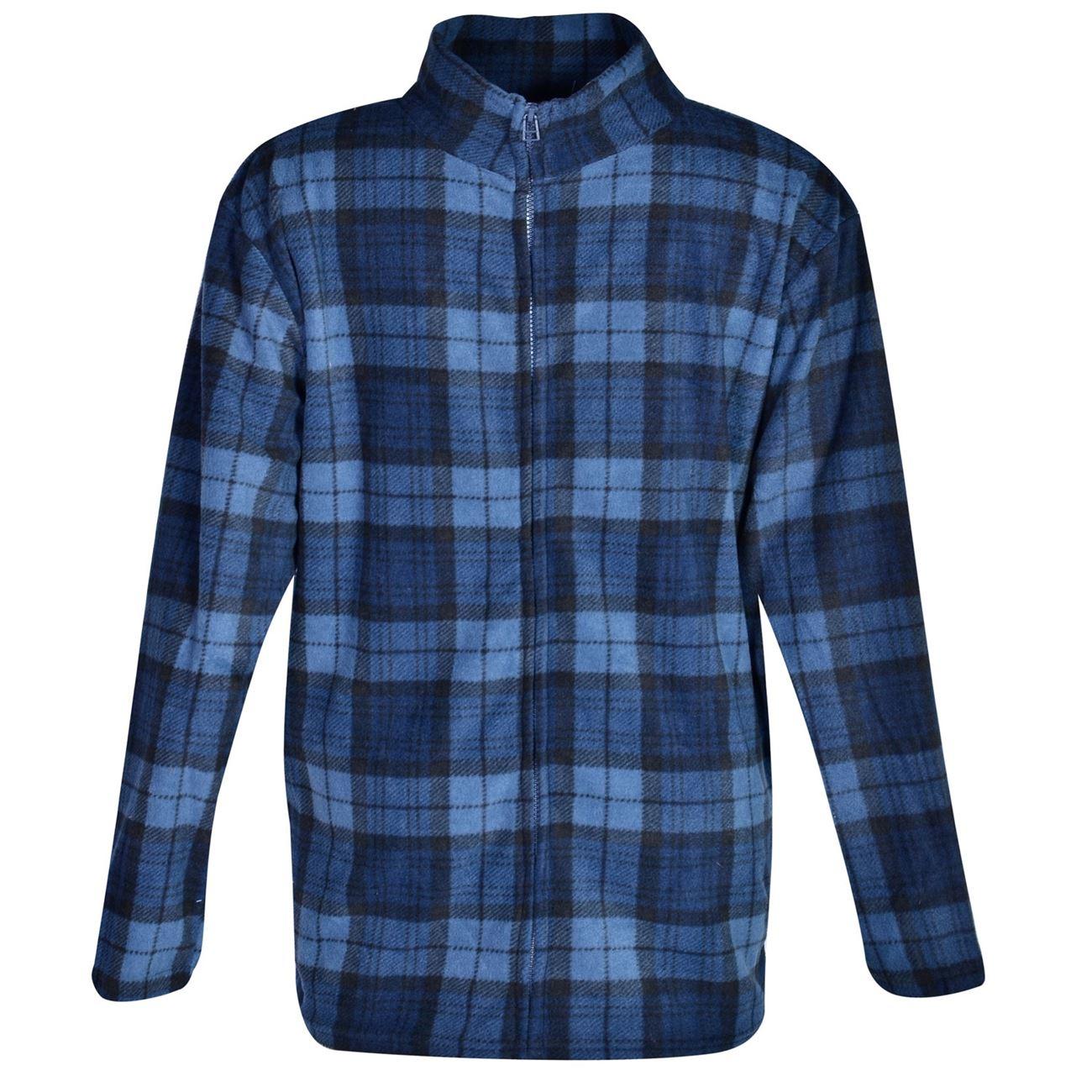 Ζακέτα Ανδρική Fleece Μπλε Kαρό - One Size   Ρόμπες-Ζακέτες Ανδρικές ... 1bcf67dac37
