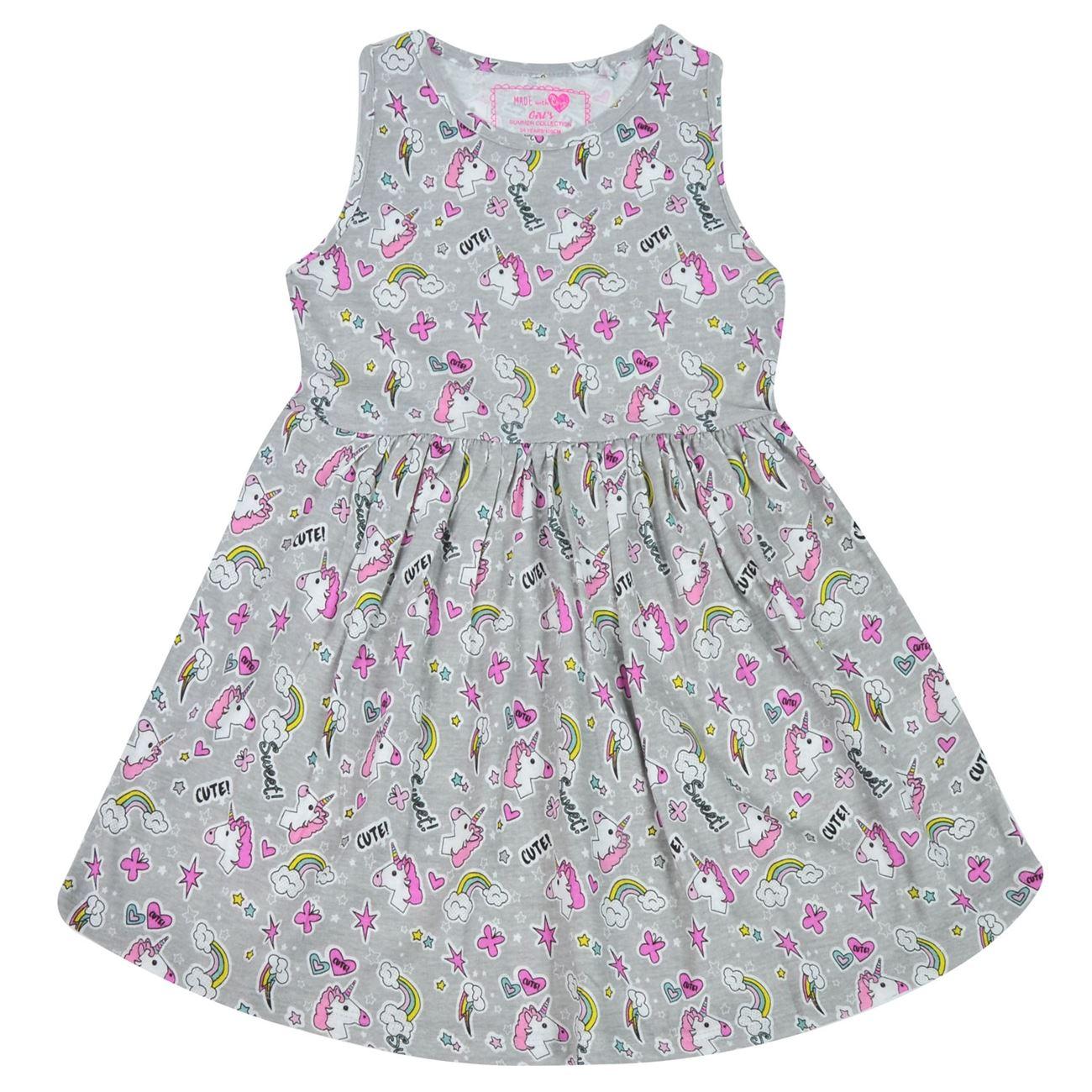 a134e700bcb Φόρεμα Αμάνικο Παιδικό Γκρι Μονόκεροι < Φορέματα για Κορίτσια | Jumbo