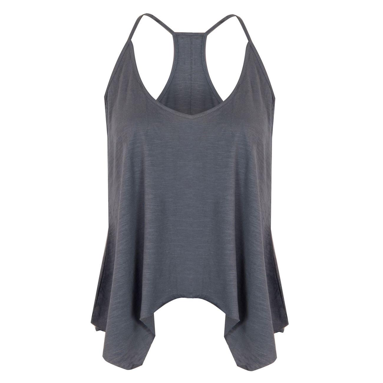 Μπλούζα Γυναικεία Αμάνικη Ανθρακί με Μύτες - One Size   Χωρίς Μανίκι ... ca7a2546546