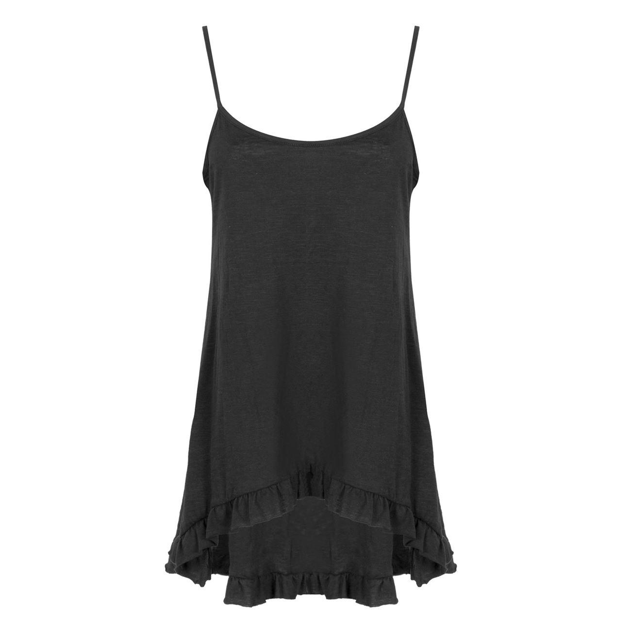 32300a82ece Μπλούζα Γυναικεία Αμάνικη Μαύρη Ασύμμετρη Βολάν - One Size