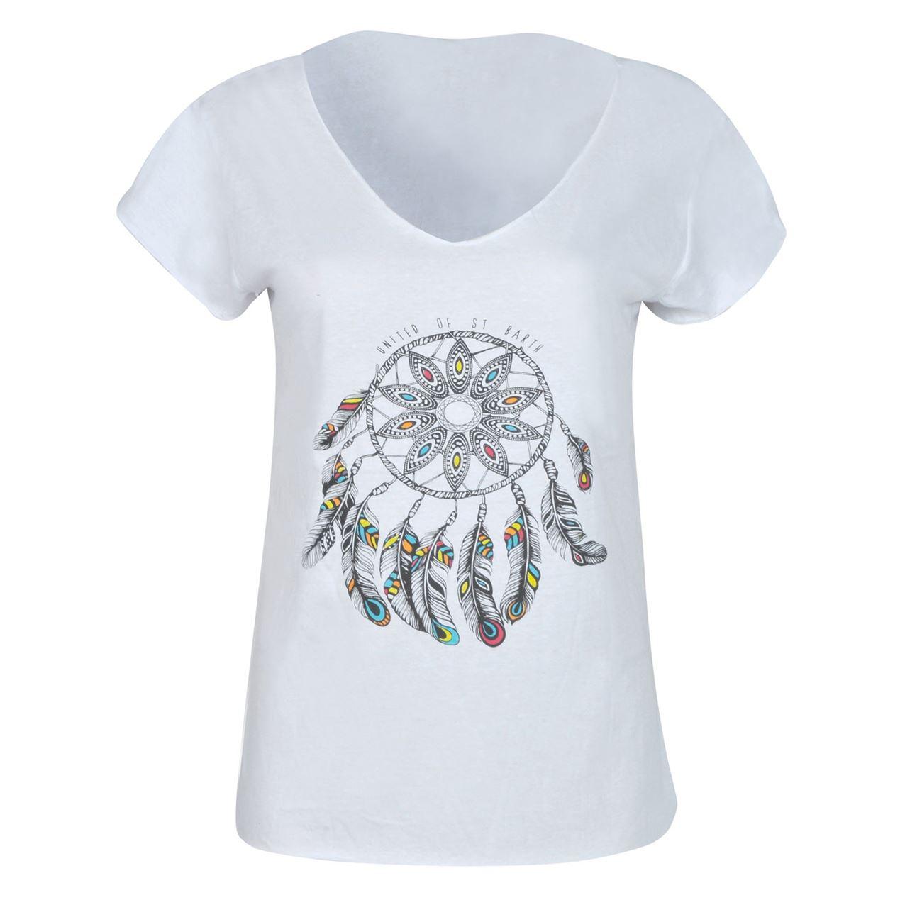 Μπλούζα Γυναικεία Κοντό Μανίκι Λευκή με Τύπωμα - One Size ... 4dcc67b09e5