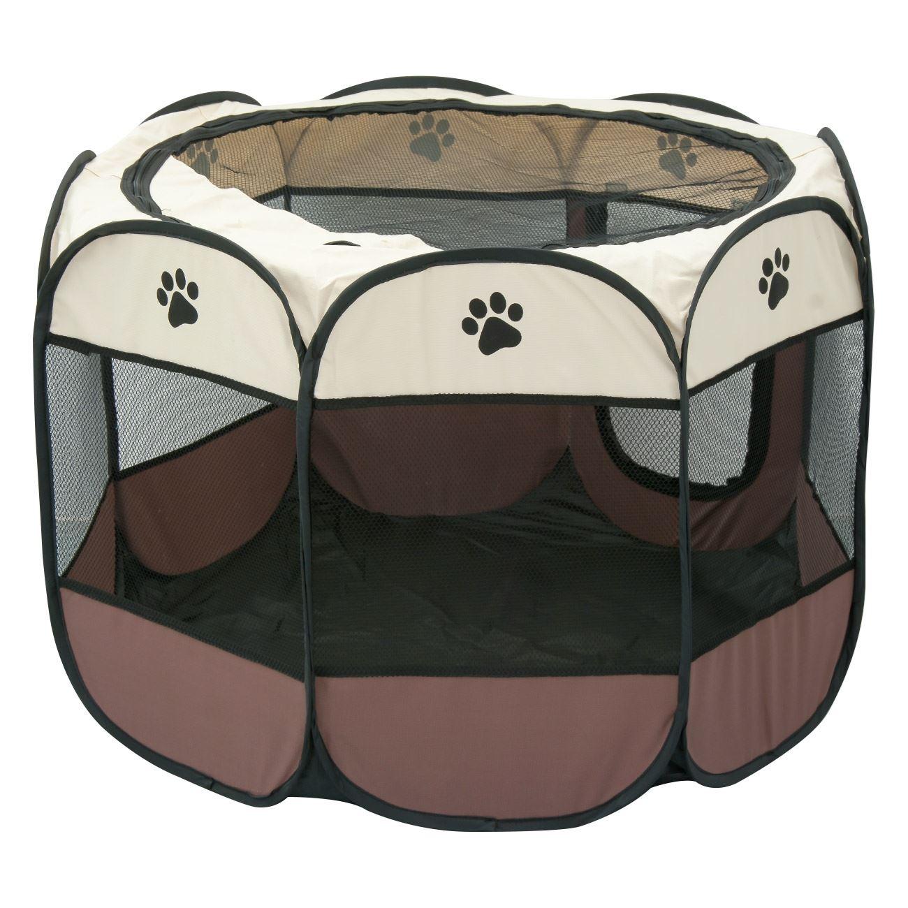 5cdb30d40a84 Πάρκο Σκύλου Καφέ Μπεζ 91x91x58   Περιορισμός Κατοικιδίων