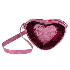 2e1a7ace40 Τσαντάκι Παιδικό Καρδιά Ροζ Μαγικές Παγιέτες Ροζ Ασημί Φούξια 18 εκ.