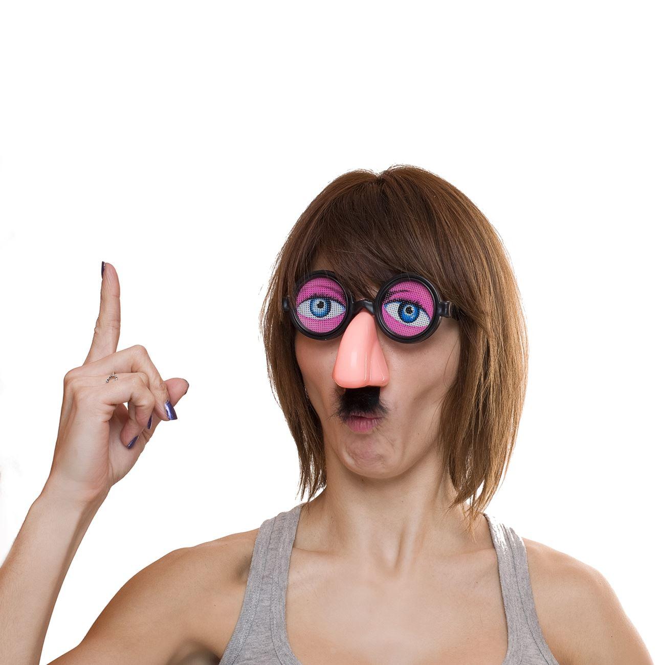 2082e4541510 Γυαλιά με Μάτια - Μύτη με Τρίχες   Αποκριάτικα Γυαλιά Χαρακτήρων