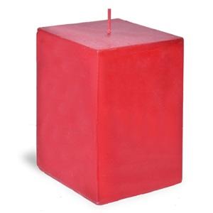 Lumânare roșie aromată patrata 420 gr.