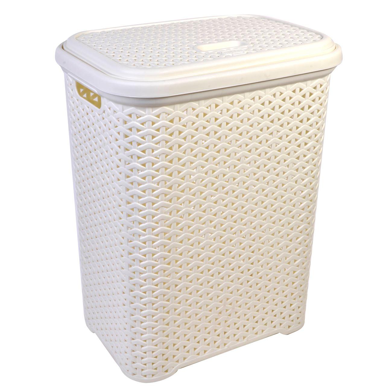 Καλάθι Απλύτων Rattan Εκρού 36x26x50   Καλάθια Απλύτων Πλαστικά  6981303479a